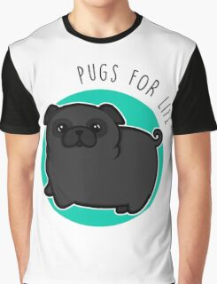 Pugs for life - black Graphic T-Shirt