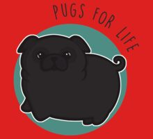 Pugs for life - black One Piece - Short Sleeve
