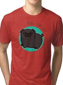 Pugs for life - black Tri-blend T-Shirt