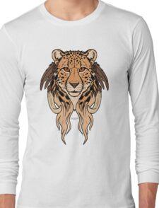 Tribal Cheetah Long Sleeve T-Shirt