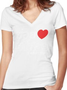 I Heart (Love) Yasothon, Isaan, Thailand Women's Fitted V-Neck T-Shirt