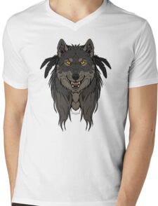 Tribal Werewolf Mens V-Neck T-Shirt