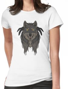 Tribal Werewolf Womens Fitted T-Shirt