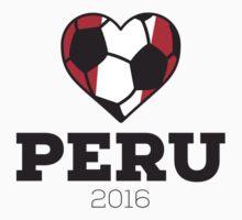 Peru Soccer Shirt 2016 Kids Tee