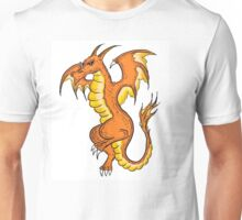 Orange winged dragon Unisex T-Shirt