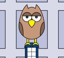 DOCTOR WHO OWL CARD (NO NAME) Sticker