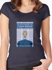 DOCTOR WHO OWL CARD (NO NAME) Women's Fitted Scoop T-Shirt