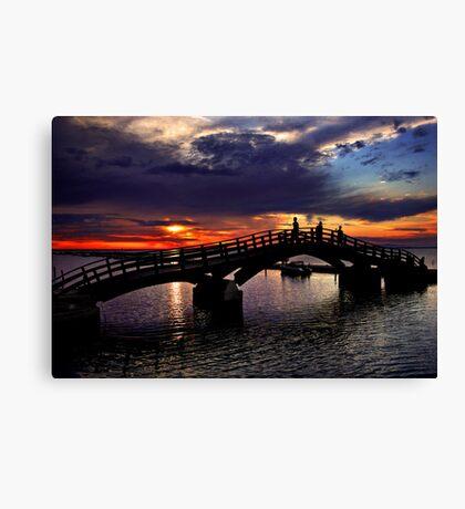 Sunset in Lefkada island Canvas Print