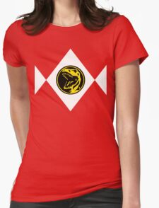 Mighty Morphin Power Rangers Red Ranger 2 Womens Fitted T-Shirt