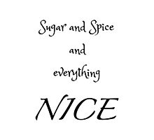 Sugar and Spice - white Photographic Print