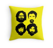 Bearded Nerds - Throw Pillow Throw Pillow