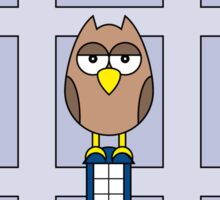 DOCTOR WHO OWL CARD (ADD A NAME) Sticker