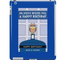 DOCTOR WHO OWL CARD (ADD A NAME) iPad Case/Skin