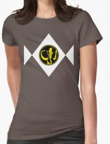 Mighty Morphin Power Rangers Black Ranger 2 Womens Fitted T-Shirt