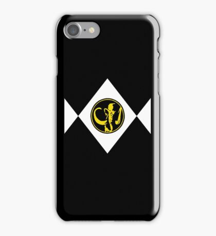 Mighty Morphin Power Rangers Black Ranger 2 iPhone Case/Skin