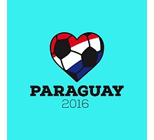 Paraguay Soccer 2016 Photographic Print