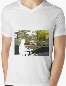 Silhouette cyclist Mens V-Neck T-Shirt
