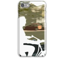 Silhouette cyclist iPhone Case/Skin