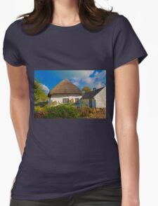 Ireland. Adare. Thatched Cottage. Womens Fitted T-Shirt