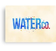 water co. Canvas Print