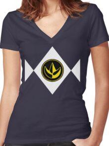 Mighty Morphin Power Rangers Green Ranger 2 Women's Fitted V-Neck T-Shirt