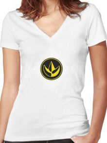 Mighty Morphin Power Rangers Green Ranger 2 Women's Fitted V-Neck T-Shirt