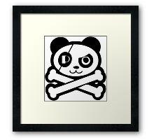 Pirate Panda Eye-Patch Framed Print