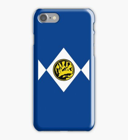 Mighty Morphin Power Rangers Blue Ranger 2 iPhone Case/Skin