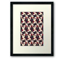 Floral Toothless Framed Print