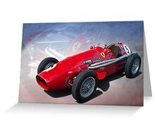 Ferrari Tipo 500 Front View Greeting Card