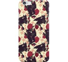 Floral Toothless iPhone Case/Skin