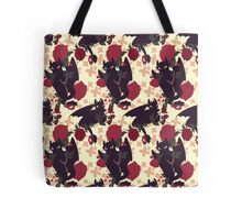 Floral Toothless Tote Bag