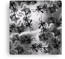 Monochrome Berries Canvas Print