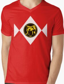 Mighty Morphin Power Rangers Yellow Ranger 2 Mens V-Neck T-Shirt