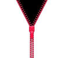 Pink zipper - black inside by Neelai