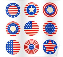 Symbols of the USA Poster