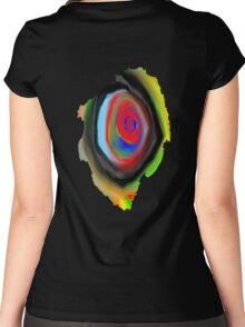 crazy aura migraine eye Women's Fitted Scoop T-Shirt