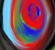 crazy aura migraine eye Sticker
