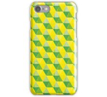 Green 'n' yellow cubes iPhone Case/Skin