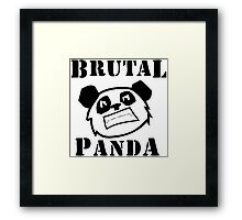 Brutal Panda Framed Print