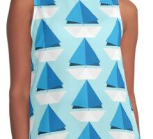 Origami Paper Sail Boat Contrast Tank