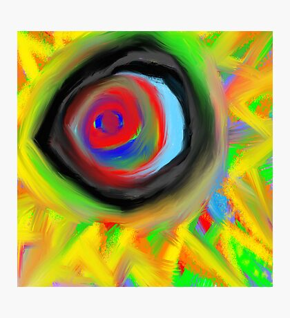 crazy aura migraine eye Photographic Print