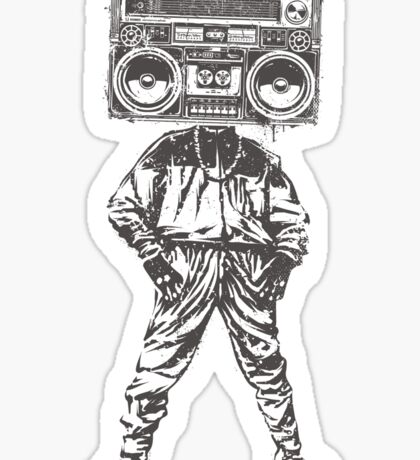 Old School Boy Sticker