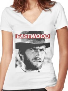 EASTWOOD Women's Fitted V-Neck T-Shirt