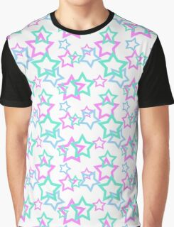 Seamless white pattern with stars background Graphic T-Shirt