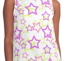 Seamless white pattern with stars background Contrast Tank