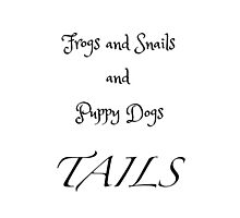 Frogs and Snails - white Photographic Print