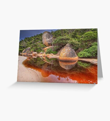 Tidal River Reflection - Wilsons Prom Greeting Card