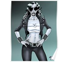 Black Metal Chick Pinup Poster