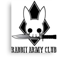 Rabbit Army Club Canvas Print